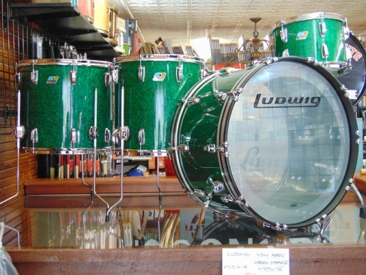 Ludwig Green Sparkle Vistalite